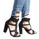 Bandage Cross Women Suede Heels Women High Heels Sandals