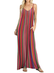 Halter Red A-line Women Daytime Spaghetti Casual Paneled Summer Dress