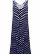 Women Print Dress V neck Swing Casual Polka Dots Dress