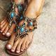 Women PU Sandals Casual Flip Flops Plus Size Bohemia Shoes