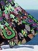 Black Swing Women Daily Cotton-blend Spaghetti Paneled Floral Dress