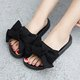 Women Bow Knot Waterproof Slippers Casual Comfort Shoes
