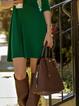 Swing Women Basic Long Sleeve Paneled Spring Dress