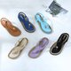 Women PU Sandals Casual Plus Size Elastic Band Shoes