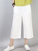 Cotton Pockets Casual Solid Plus Size Pants