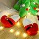 Christmas Feet Winter Cloth Flat Heel Slipper