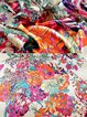 Floral Pattern Splash-ink Painting Womens Scarves