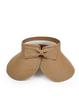 Women Foldable Bowknot Empty Top Wide Brim Beach Sun Straw Hats