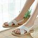 Women Canvas Elastic Band Sandals Casual Comfort Shoes