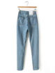 Paneled Solid Cotton Jeans