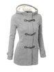Fleece-lined Buttoned Hoodie Coat