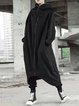 Long Sleeve Casual O-neck Solid Zipper Winter Coat