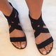 Large Size Elastic Band Zipper Sandals