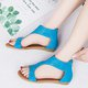 Large Size Hollow-out PU Zipper Sandals