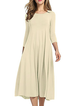 Women Daily Cotton 3/4 Sleeve Paneled  Summer Dress