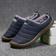 Men Plush Lining Waterproof Cloth Slip On Soft Sole Casual Slippers