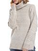 Solid Acrylic Slit Casual Winter Turtle Neck Sweater