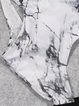 Black-white Scoop Neckline Cut-outs One-piece