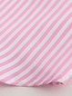 Long Sleeve Casual Striped High Low Plus Size Blouse