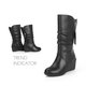 Comfy Wedge Heel Mid Calf Zipper Women Boots