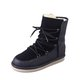 Cowhide leather Lace Up Women Winter Round Toe Boots