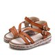 Plus Size Adjustable Buckle Peep Toe Women Sandals