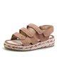 Suede Magic Tape Casual Peep Toe Women Plus Size Sandals