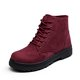 Ankle Comfy Women Lace-Up Martin Casual Round Toe Boots