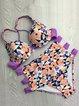 Multi-color Floral Printed Strapped Bikini