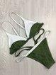 Color-block Triangle Padded Wireless Straped Bikini
