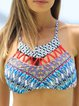 Geometric Printed Strapped Wireless Padded Bikini