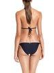 Color-block Padded Wireless Halter Bralette Bikini