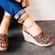 Plus Size Espadrille Wedge Peep Toe Ankle Strap Sandals