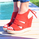 Comfortable Espadrilles Wedge Sandals Lace-up Wedge Heel Shoes