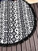Zero Gravity Black-white Fringed Tribal Blanket