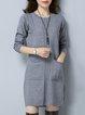 Knitted Sheath Long Sleeve Casual Sweater Dress