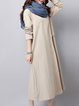 Women Casual Dress Crew Neck Shift Going out Long Sleeve Solid Dress