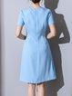 Polyester Paneled Elegant Midi Dress
