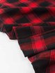 3/4 Sleeve Skater Vintage Checkered/Plaid Cotton Vintage Dress