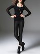 Black Casual Sheath Legging