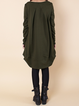 Women Casual Dress Crew Neck Cocoon Daytime Long Sleeve Casual Dress
