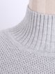 Cotton-blend Knitted Long Sleeve Turtleneck Sweater