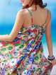Chiffon Spaghetti Girly Floral Beach Dress