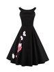 Time to Shine Black Embroidered Elegant Dress