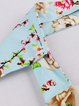 Floral Paneled Halter Vintage Sleeveless Dress