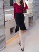 Black Mermaid Solid Elegant   Skirt