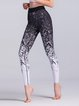 Black Abstract Printed Sports Sheath Leggings