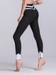 Black Sheath Sports Paneled Leggings