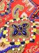 Orange Shift Women Daily 3/4 Sleeve Vintage Beaded Tribal Elegant Dress