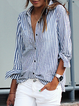 Shirt Collar Buttoned Long Sleeve  Shirt